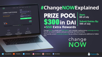 $350 in Crypto Prize Pool: #ChangeNOWExplained Writing Contest + Twitter Giveaway!