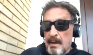 My interview with John McAfee is live. We speak of decentralized social media.