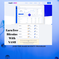 GET FREE BITCOINS, JOIN THE NASH GIVE AWAY PROGRAM