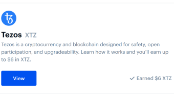 Here are the answers to earn 6 $ in Tezos (XTZ) on Coinbase