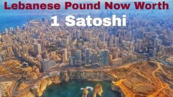 The Lebanese Pound Is Now Worth 1 Satoshi