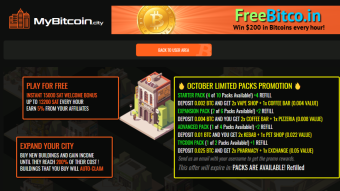 No longer getting payments .... Mybitcoin City, the game promo is here.