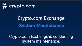 Crypto.com Surprise Temporary 24-48 Server Maintenance!?