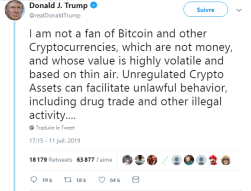 Bitcoin and the fear of Trump !!!