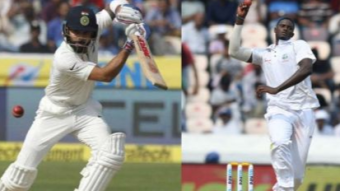 India runs 264/5 on the first day.