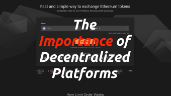 The Importance of Decentralized Platforms