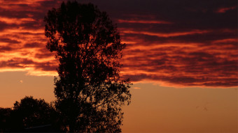 Photography - sunsets in Poland, Eastern Poland, sunset in late autumn