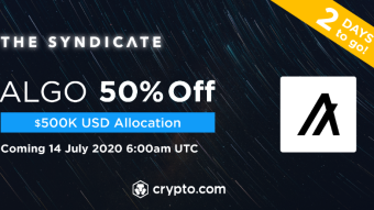 Algorand at 50% price to buy with The Syndicate and Crypto.com