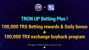 TronUp 100 000TRX betting rewards and daily bonus