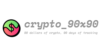 New Project: crypto_90x90 - $90 dollars of crypto, 90 days of tracking 📈📉
