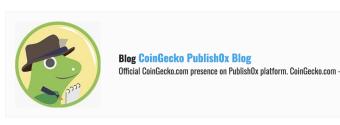 CoinGecko Joins Publish0x