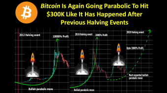 Bitcoin Again Going Parabolic To Hit $300K Like Has Happened After Previous Bitcoin Halving Events