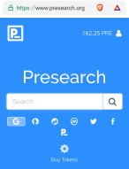 Presearch get paid to search!