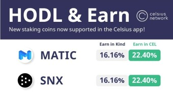 MATIC, Livepeer (LPT), Kyber (KNC), Synthetix (SNX) and LINK added on Celsius Network