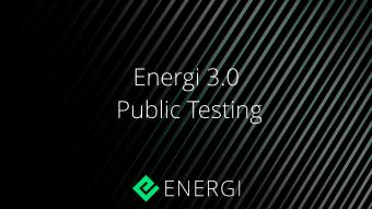 Energi 3.0-Public Testing Now Open!