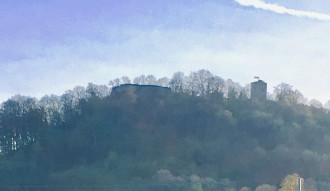 Castle Achalm splitscreen infrared