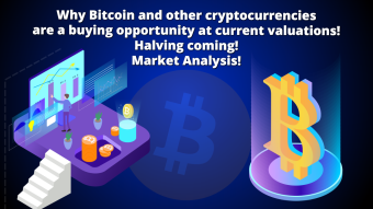 Why Bitcoin is a buying opportunity at current valuations! Halving coming! Market Analysis!