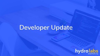 Developer Update: September 23rd 2019
