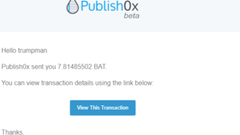 My first Publish0x Payment