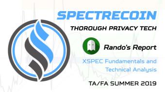 Spectrecoin - Thorough Privacy Tech - Rando's Report - TA/FA Summer '19