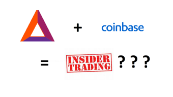 Closer look on insider info detection in Crypto on Blockchain, Coinbase BAT listing example