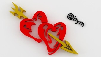 3DsMax Design: My Tribal 3D and Vector Designs Vol - 4 [Hearts in Love]