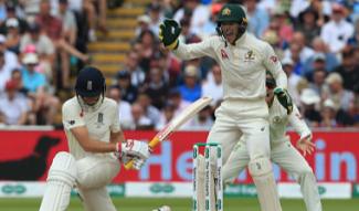 England need 208 more runs. And Australia need 7 wickets.