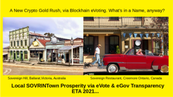 SOVRINTOWN: BLOCKCHAIN 'Protect' your Town's Future Prosperity, Transparently!