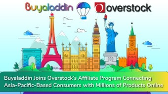 Buyaladdin Joins Overstock's Affiliate Program Connecting Asia-Pacific-Based Consumers with Millions of Products Online…