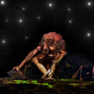 """Demon Stargazing"": My newest Superrare tokenized artwork"