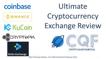 The Ultimate Crypto Exchange Review: Binance v KuCoin v Cryptopia v Coinbase v DeltaExchange