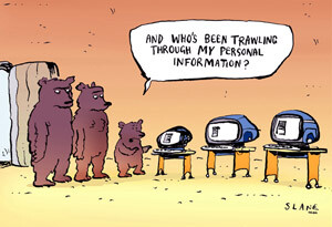 Slane's Privacy Cartoon Sampler  from Kiwiland NZ