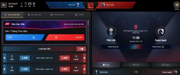 Esports UX screen grab