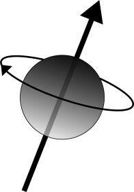 Rotation of a particle around its axis known as the visual presentation of the spin