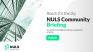 NULS community briefing for the First Half of October in 2021