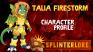 Splinterlands Epic Summoner Profile - Talia Firestorm