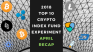 EXPERIMENT – Tracking 2018 Top Ten Cryptocurrencies – Month Forty – UP +56%