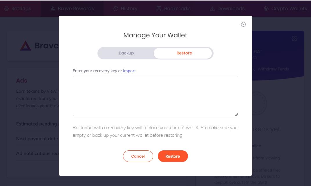 Managing you Wallet