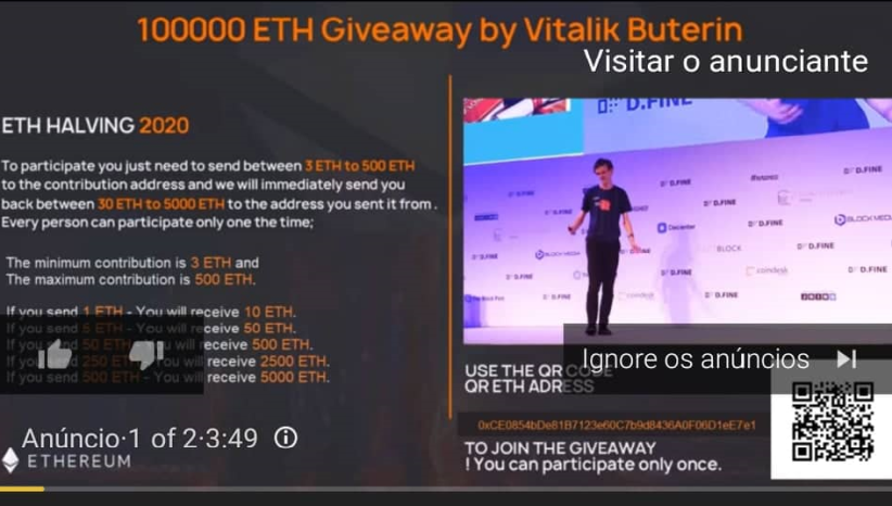 Vitalik scam publicity