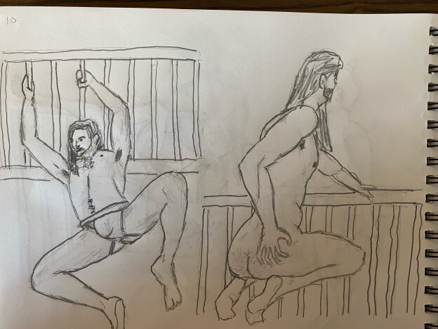 two 10-minute sketches of Lalo - Pencil