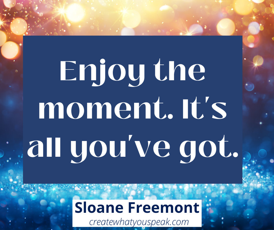 enjoy the moment it's all you've got