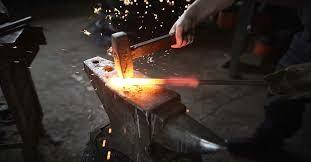Hammer & Anvil Hardening of Metal