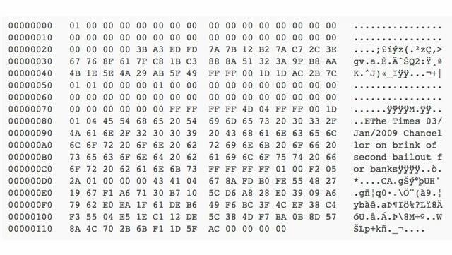 The genesis block's coinbase parameter message.