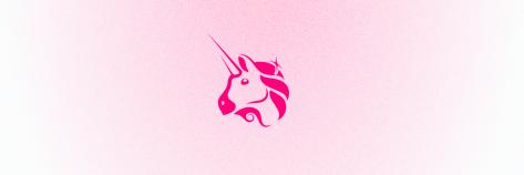 Uniswap unicorn pink gradient