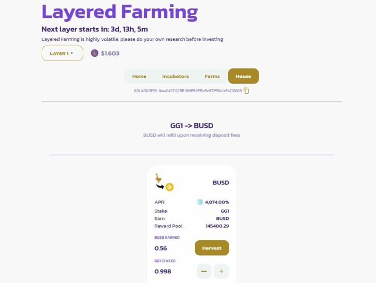 layer 1 goose finance