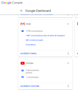 On Google Dashboard, you can delete every informations of yours