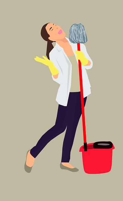 mopping, house work, maid