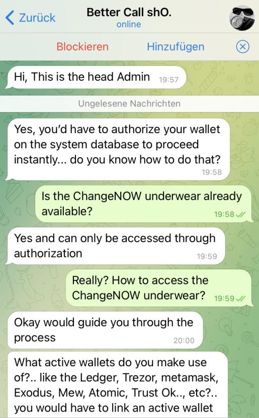 Telegram scammer
