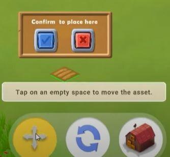 moving asset on Cropbytes