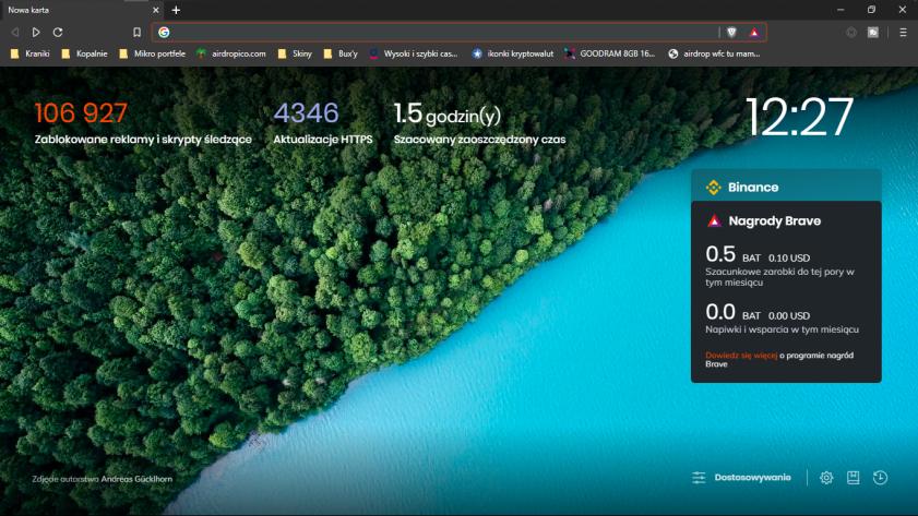 Brave browser screenshot